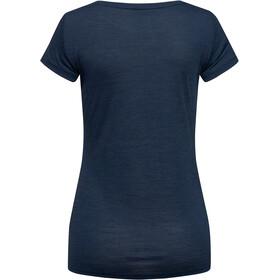 super.natural Print T-paita Naiset, blue iris melange/vapor grey